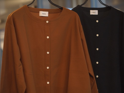 【DIARIES】COMPACT KNIT TWILL COMFORT CARDIGN