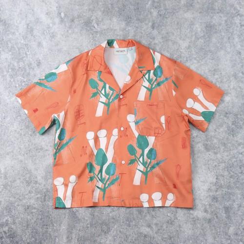 【CARHARTT WIP】 WOMEN'S S/S TOM KROLFLOWERS SHIRT レディース カーハート シャツ 半袖シャツ 総柄