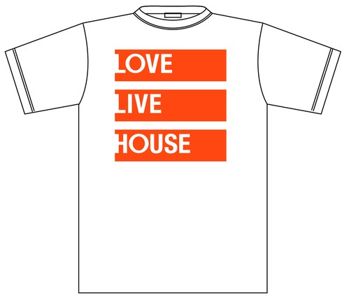 LOVE LIVE HOUSE LOGO Tee(White)