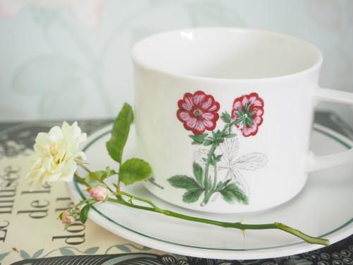 BAVARIA WINTERLING MARKTLEUTHEN 花柄カップ&ソーサー(ピンク)