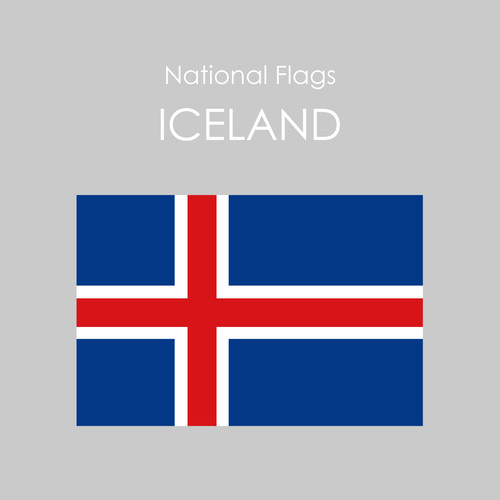 National Flags Sticker [ICELAND]
