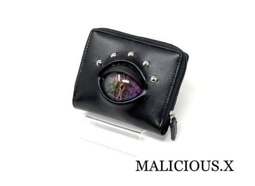 reptiles eye folding wallet / violet