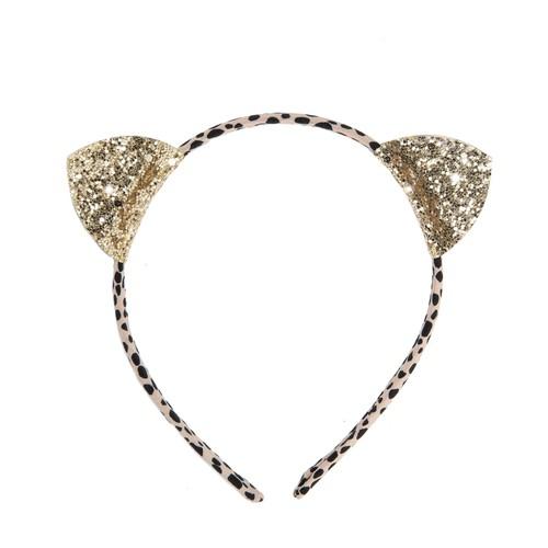 H1416G Clara Cat Ears Head Band Gold