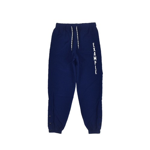 SIDE SNAP NYLON PANTS / DARK BLUE