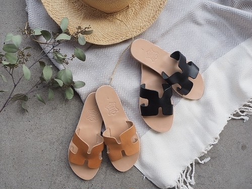 greece leather sandal