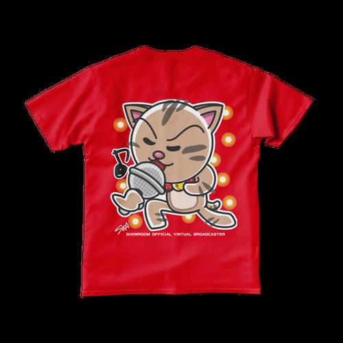 <レッドTシャツ 背面>熱唱みーちゃん
