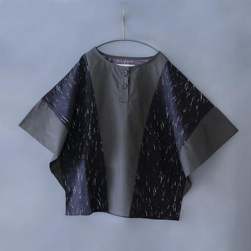 Switching shirt  XXL(140-150)サイズ  ブラック&チャコール