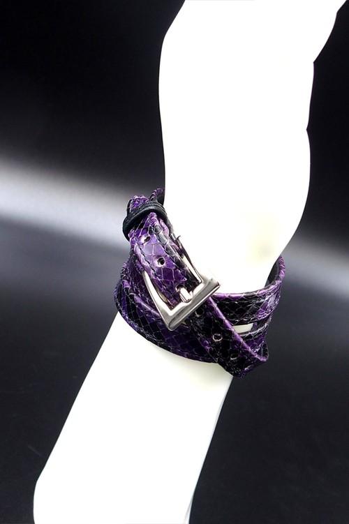 Item No.0296 :Long Smooth Bracelet/Diamond Python《Purple》