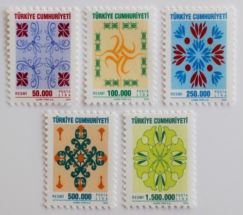 公用切手 / トルコ 2002