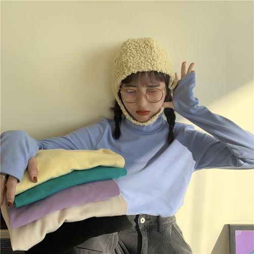 【トップス】無地簡約・シンプルプルオーバーTシャツ25101051