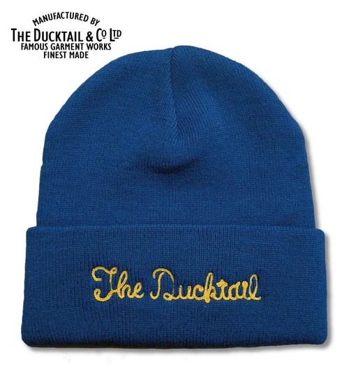 """DUCKTAIL CLOTHING """"NO NAME"""" BLUE ダックテイルクロージング ニットキャップ"""
