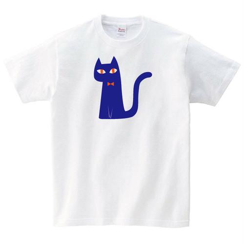 座ってる猫 Tシャツ メンズ レディース 半袖 北欧 ネコ ゆったり おしゃれ トップス 白 30代 40代 ペアルック プレゼント 大きいサイズ 綿100% 160 S M L XL