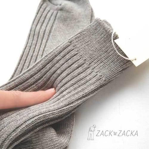 YAK×オーガニックコットン・肌にやわらかな履き心地リブソックス無染色【M・L】