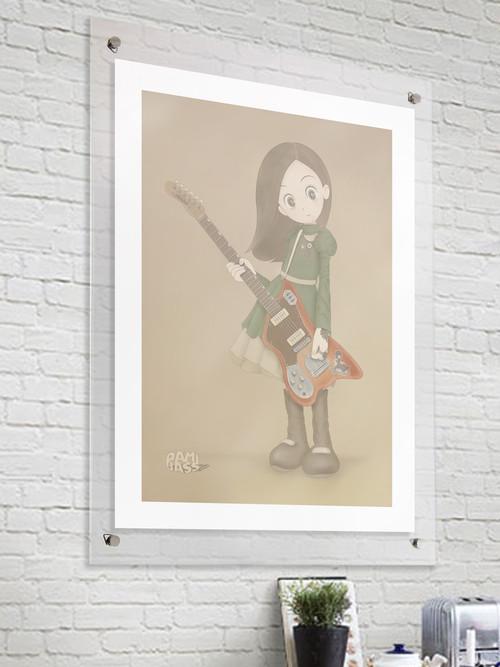 【Session Girl】■ジクレー版画 ■B3 ■デジタル画 ■額装込