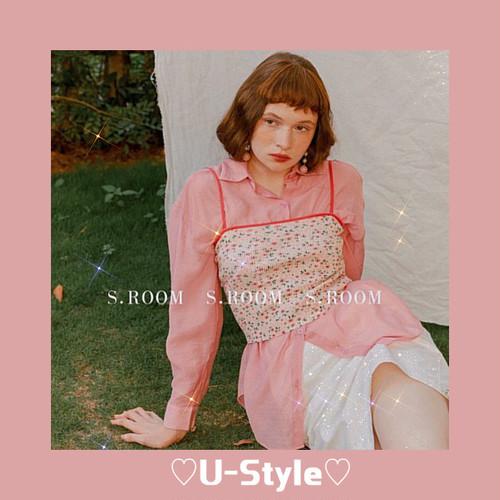 【即日発送】hood blouse&rib crop top・ SH8766
