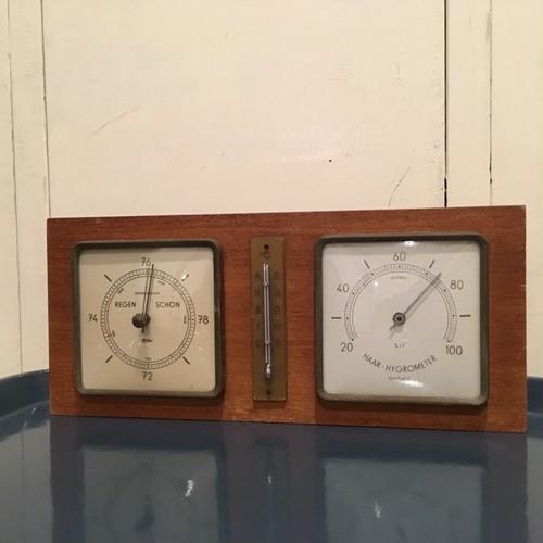 30[着払い国内発送]ドイツ ヴィンテージ 気圧計/温度計/温度計