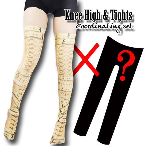 Set sales★<拘束/Restriction>Selectable knee high socks & Tights!