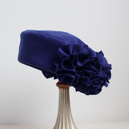 うしろクシュクシュなトーク帽/ロイヤルブルー