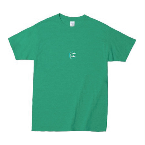 SHINKA T-shirt [Heathr irish green × White]