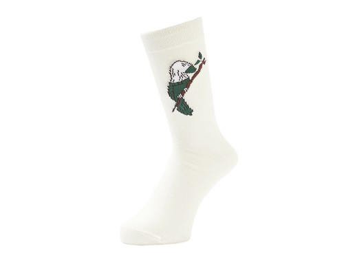 WHIMSY (ウィムジー) / SOCK BIRD SOCKS -WHITE-