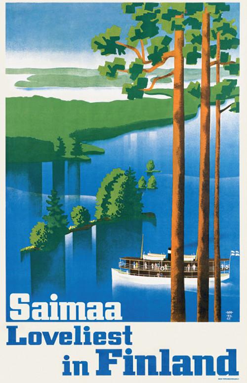 A4サイズ アートプリント 「サイマー湖の眺め」
