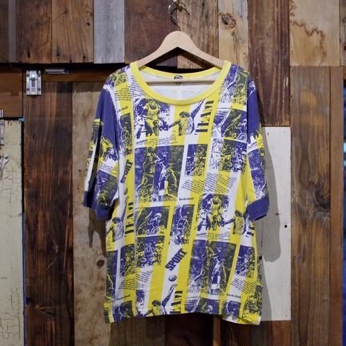 1990s NBA? バスケットボール 総柄 ピクチャー Tシャツ