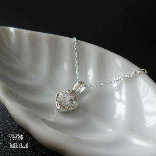 SQUARE - silver necklace