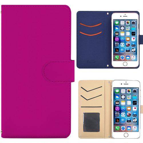 Jenny Desse iPhone 8 ケース 手帳型 カバー スタンド機能 カードホルダー ピンク(ブルーバック)