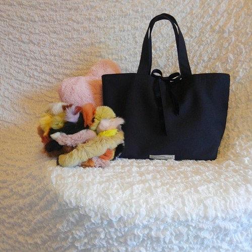 elegant lunch tote bag   black