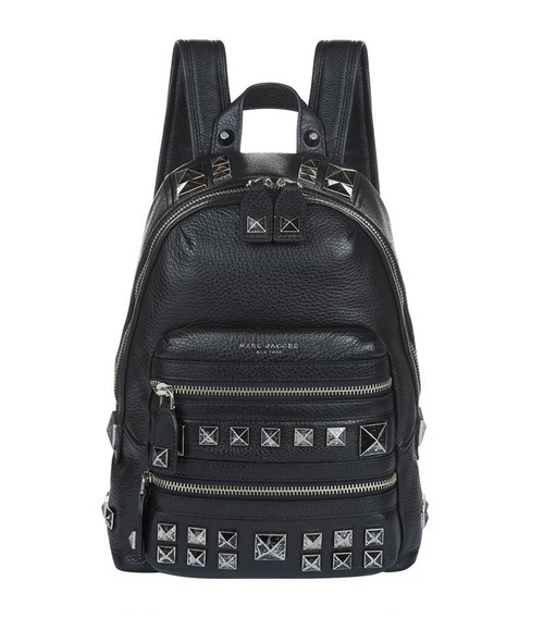 MARC JACOBS Recruit Chipped Studs Leather Backpack