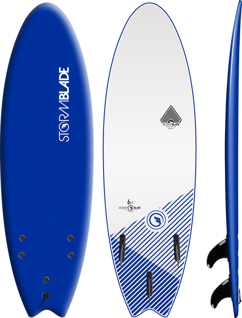 Storm Blade 6ft Swallow Tail Surfboard / Navy