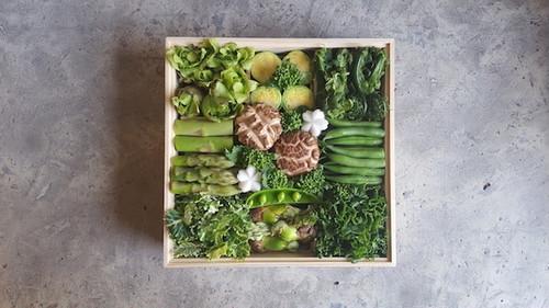 京の山菜重/木箱(期間限定3月10日~5月10日)