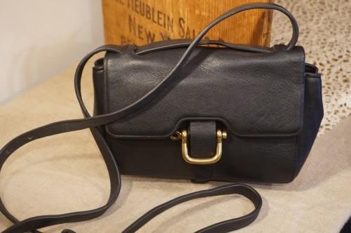 J.CREW black leather 2way shoulder Bag