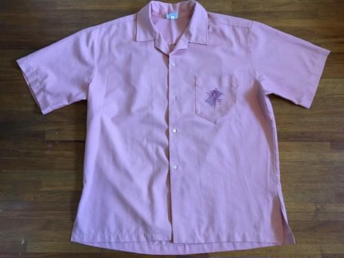 ビンテージ オープンカラー リゾートシャツ 胸ポケット プリント / ハワイアン アロハ