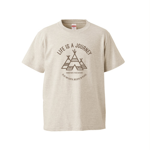 LIFE IS A JOURNEY T-SHIRT(オートミール)