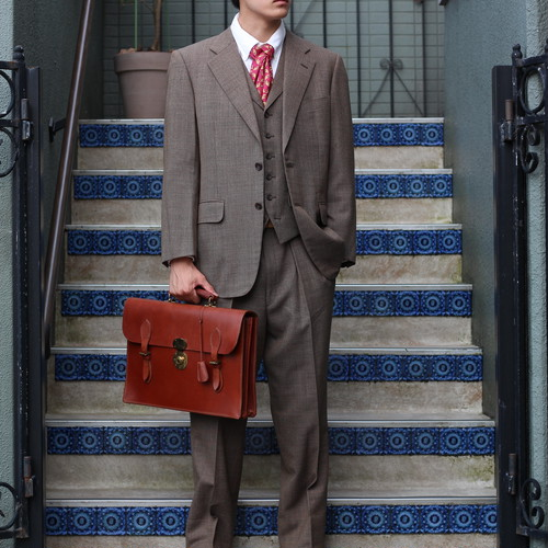 .BURBERRYS WOOL 3 PIECES SET UP SUIT/バーバリーズウールスリーピースセットアップスーツ2000000054285