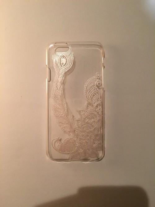 iPhone6ケース。幸せを運ぶピーコックデザイン。
