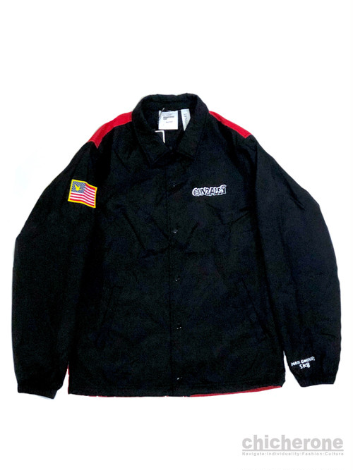 【MARK GONZALES】USA COACHES JACKET BLACK