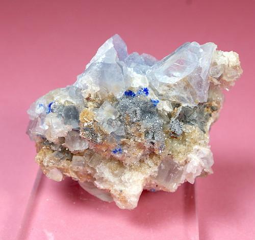 レア!フローライト + リナライト 蛍石 原石 22g  FL111 鉱物 天然石 パワーストーン