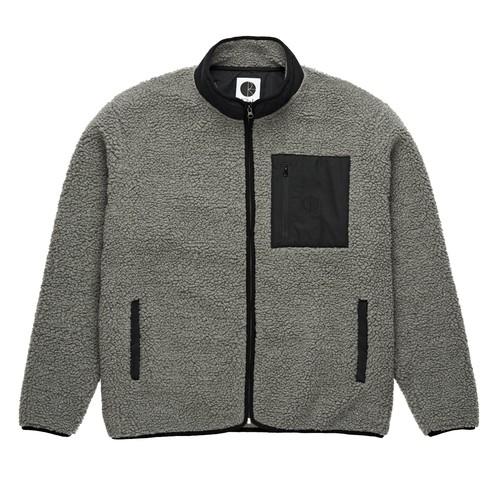 POLAR SKATE CO. TEDDY FLEECE JKT grey  ポーラー フリース ジャケット