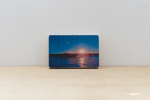 Wood Photograph Magical Ocean Color #4 _ Post Card size