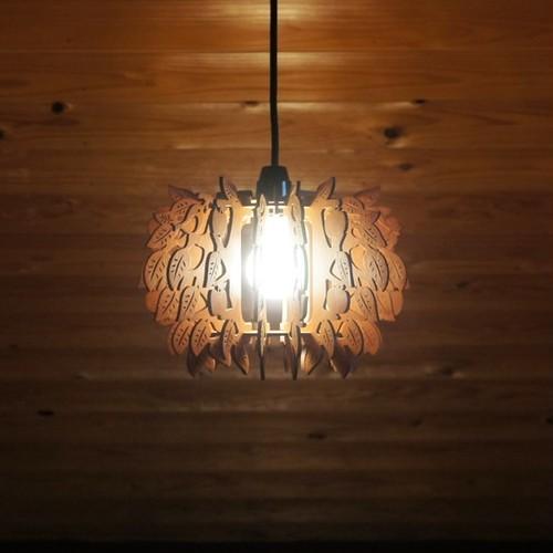 「森のこもれび」木製ペンダントライト