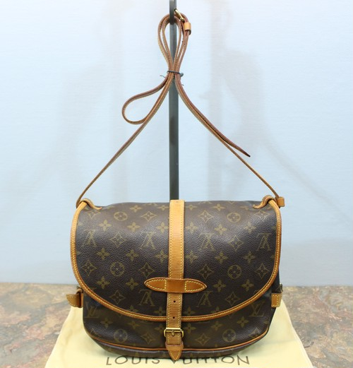 .LOUIS VUITTON M42256 MB1929 MONOGRAM PATTERNED SHOULDER BAG MADE IN FRANCE/ルイヴィトンソミュール30モノグラム柄ショルダーバッグ 2000000028750