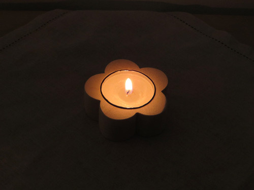flower candle holder|maple