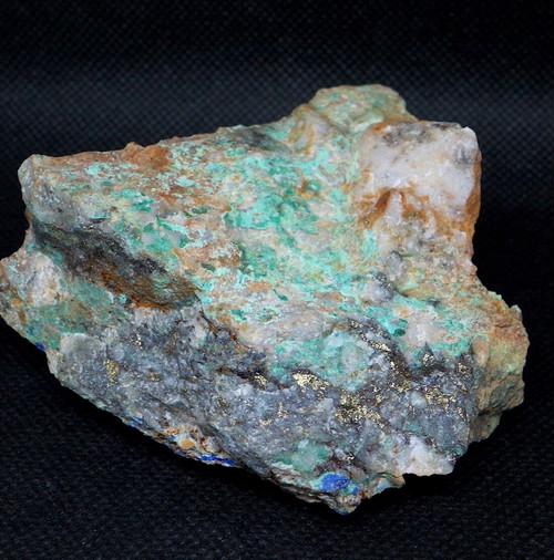 カリフォルニア州産 マラカイト アズライト 黄銅鉱 アジュライト  パイライト 206,8g 原石 鉱物 標本 AZR007 パワーストーン 天然石