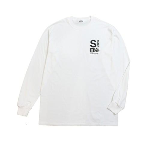 STUDIO BLANCHE / LOGO PRINT LONG SLEEVE Tシャツ