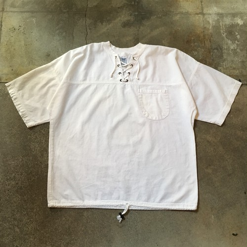 90s Lace up  Pullover Shirt