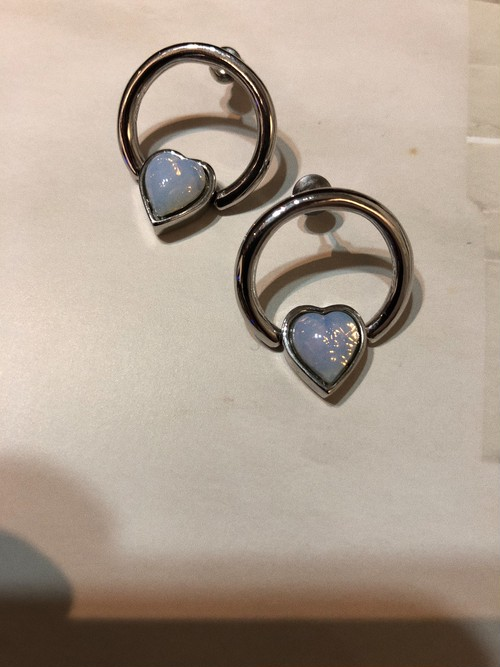 HEART BEADS RING earring #LA18011P 両耳