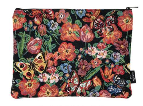 Nathalie Leteナタリーレテ フラットポーチ/Butterfly&flower