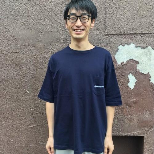 the coopeez ポケットTシャツ(ビッグシルエット) ネイビー Mサイズ
